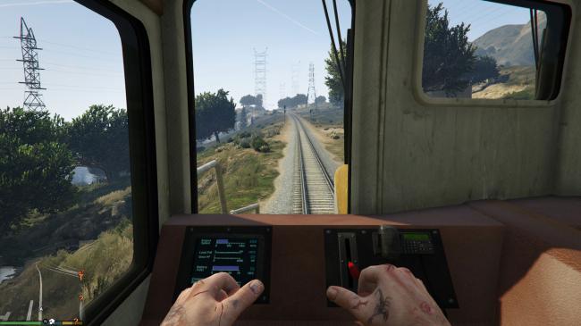 как управлять поездом в gta 5?
