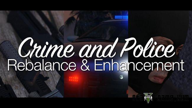 Crime and Police Rebalance - реалистичная полиция в gta 5