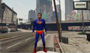 Superman мод на скин супермена в гта 5