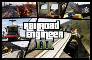Railroad Engineer мод на управление поездом и трамваем в гта 5
