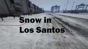 Snow in Los Santos - снег и зима на улицах Gta 5