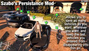 Szabo's Persistance - сохранение положения машин в гта 5