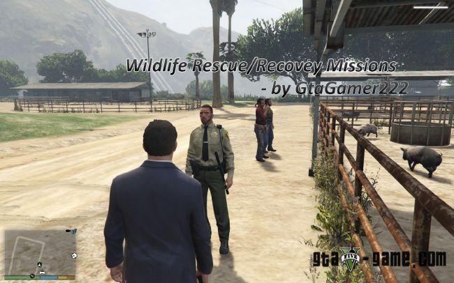 Wildlife Rescue мод на миссии охотникалесника в гта 5