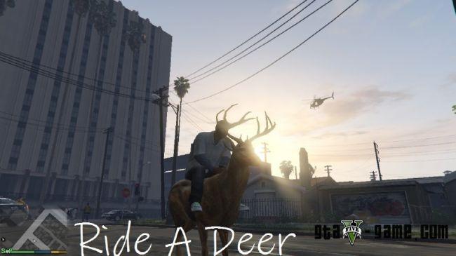 Ride A Deer -  ездить верхом на олене в гта 5