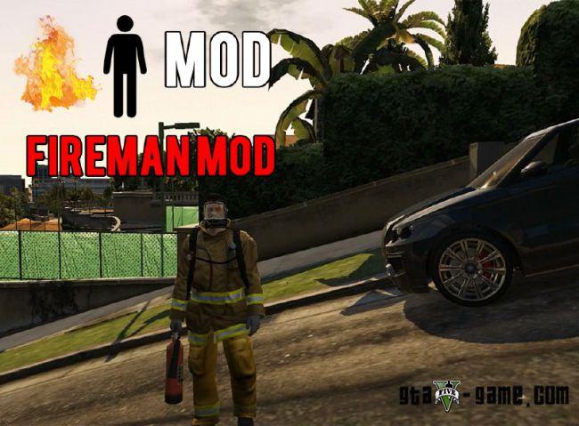 Fireman Mod еще один мод на пожарника в гта 5