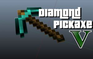 Diamond Pickaxe - кирка из Minecraft в gta 5