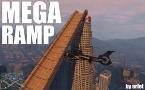 Mega Ramp - мега огромная рампа трамплин в гта 5