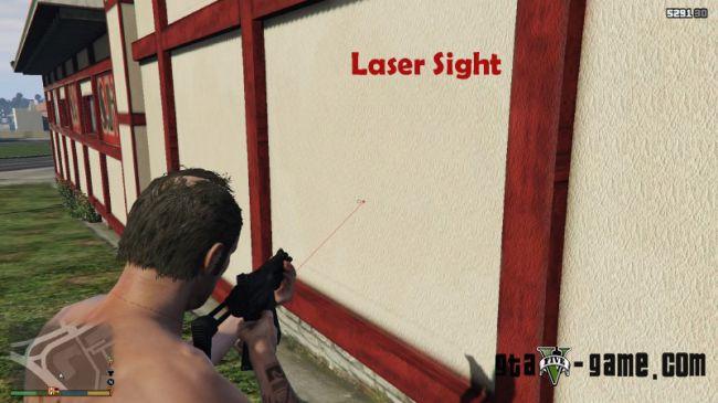 Laser Sight - лазерный прицел в gta 5