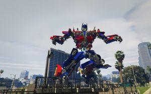 Статуи Optimus + Ironman - новые статуи в gta 5