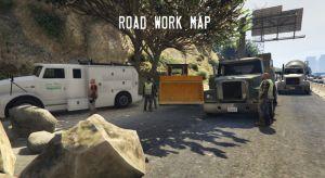 Road Work - ремонт на дороге, дорожные работы в гта 5