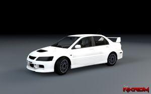 Mitsubishi Lancer Evolution IX для gta 5, новая машина