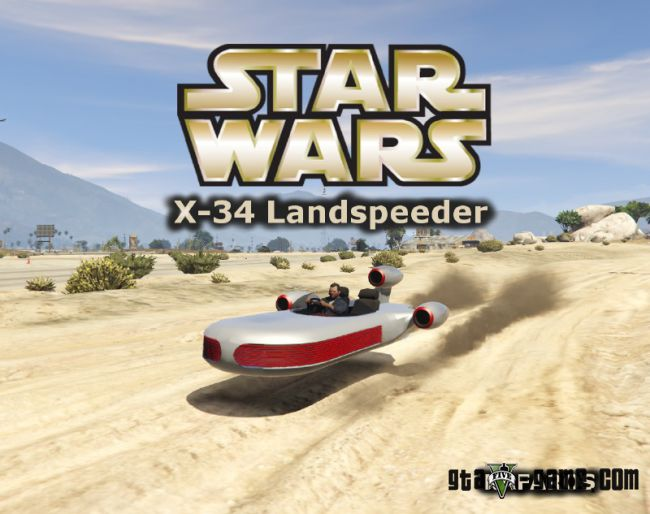 Star Wars X-34 Landspeeder - парящий корабль для Gta 5