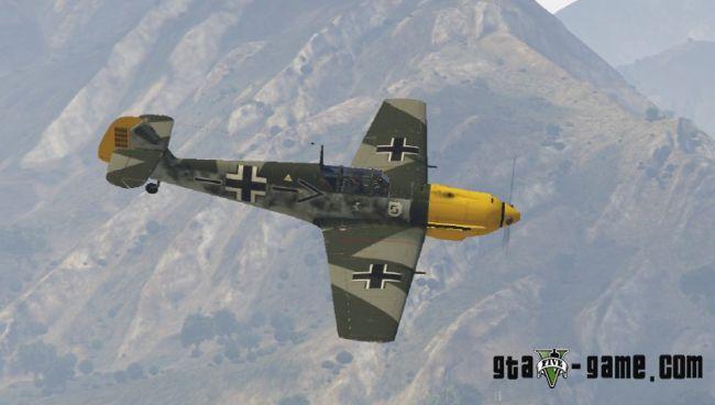 Messerschmitt BF-109 - немецкий самолет БФ-109 для гта 5
