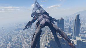 Mass Effect 3 Reaper - корабль жнецов в гта 5