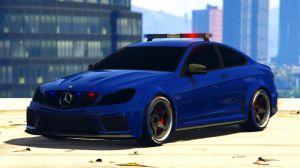 LSPD Mercedes-Benz C63 AMG - полицейский мерседес для гта 5