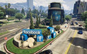 Social Network Building - логотип фейсбука в гта 5