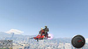 Motojet Hexer - мод на летающий мотоцикл для gta 5
