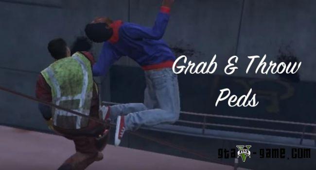 Grab & Throw Peds - хватай и кидай людей в гта 5