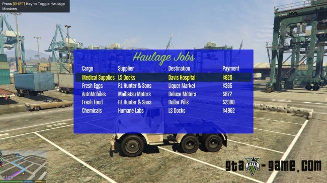 Haulage Missions миссии водителя грузовика для гта 5