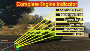 Vehicle Indicator - индикатор здоровья автомобиля в гта 5