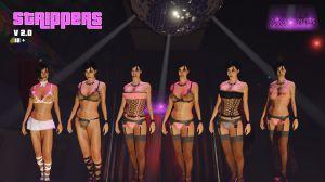 New Strippers - новые наряды стриптизерш для гта 5