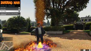Inferno Man - огненный мод для гта 5