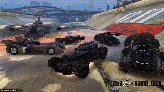Batman Vehicles Add-On Pack - сборник автомобилей бетмена