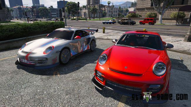 Porsche GT2 RS - два спортивных порше для гта 5