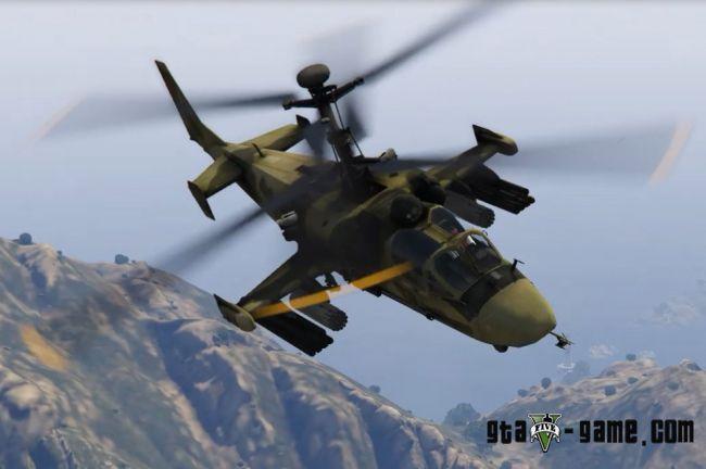 Камов ка52 Аллигатор - русский военный вертолет для гта 5