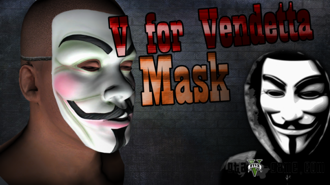 V for Vendetta Mask - маска Анонимуса для гта 5
