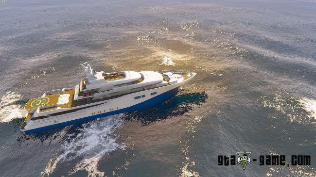 Drivable Yacht IV - управляемая яхта для гта 5