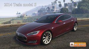 Tesla Model S - электрокар тесла модель S для gta 5