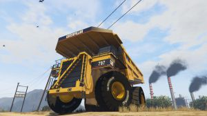 CAT 797 Dumper - карьерный грузовик катерпиллар