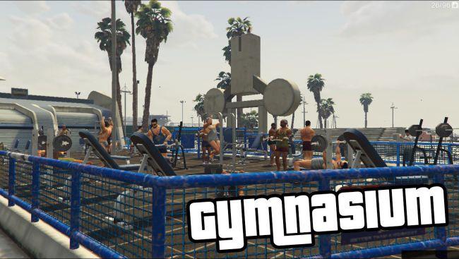 Gymnasium - тренажерный зал, мод на тренировки