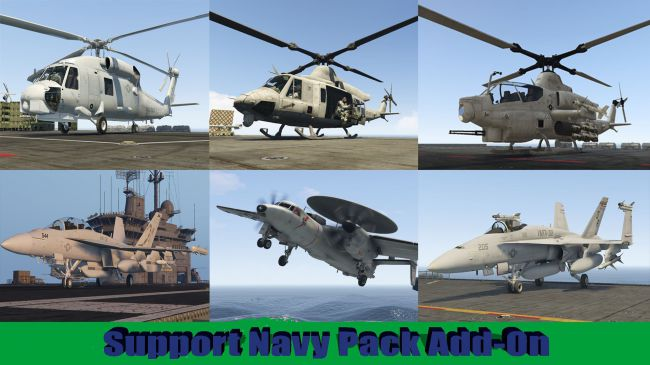 Support Navy Pack - три вертолета и три самолета