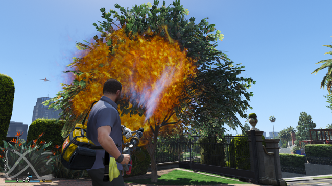 Real Flamethrower - настоящий огнемет для гта 5