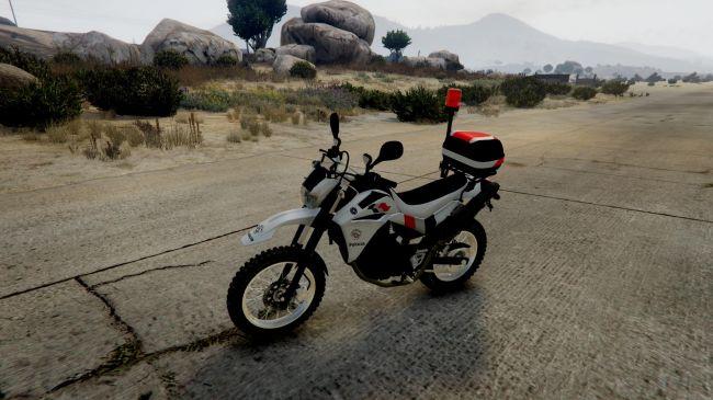 Yamaha XT 660 - полицейская ямаха