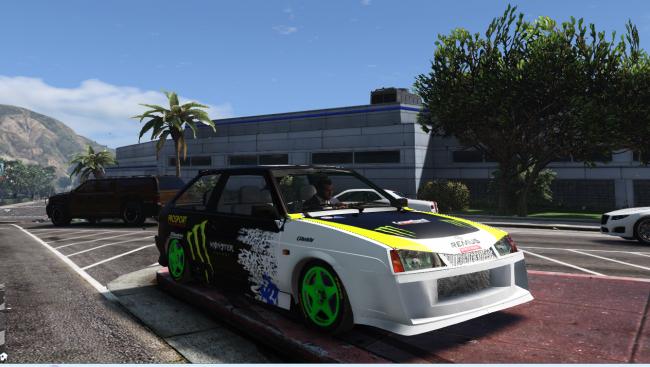 VAZ-2108 Monster Energy - спортивная восьмерка