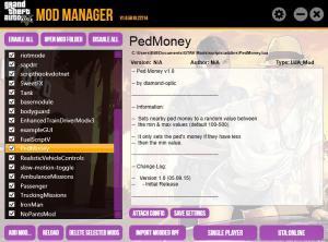 Mod Manager - менеджер модов для Gta 5