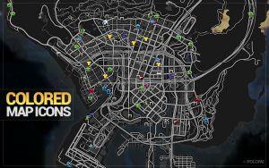 Colored Map Blips разноцветные иконки карты