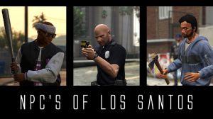 NPC's of Los Santos вооруженные жители города