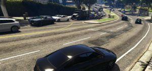 Больше людей и машин на улицах gta 5, мод на траффик