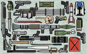 Colored Weapon Icons - цветные иконки выбора оружия