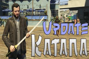 Katana - мод меняющий биту на катану в гта 5