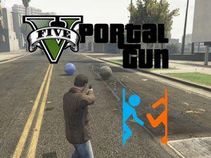 Portal Gun - портальная пушка в гта 5 из игры Portal