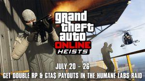 Двойной опыт и деньги всю неделю в GTA online