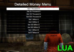 Detailed Money Menu мод на деньги в гта 5 пк