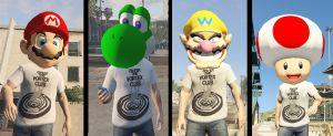 Super Mario Masks - Маски супер марио в гта 5