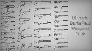 Ultimate Battlefield Weapons Pack - большой пак оружий из Battlefield 3,4 и Hardline в GTA 5