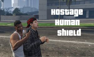 Hostage Human Shield мод на заложника, щит из человека